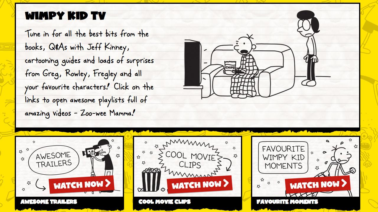 Wimpy Kid Club website
