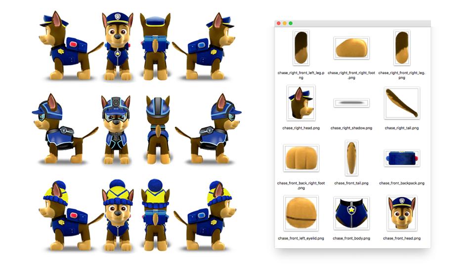 Pup design assets